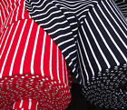 Vintage tubular knit dress fabric STRIPED sailor suit pirate red navy blue white
