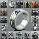 NEW Iron Man Skull Head Cross Totems Stainless Steel Finger Ring Men's Jewelry