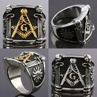 Punk Rock Gothic Stainless Steel Freemasonry Masonic Mason Finger Ring Jewelry