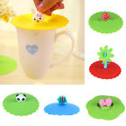 New Cartoon Anti-dust Silicone Glass Cup Cover Coffee Mug Suction Seal Lid Cap