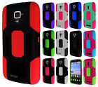 For ZTE Rapido Z932C Robust Slim HYBRID Rubber Case Phone Cover Accessory