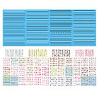 ST26 1 Sheet, 4 Sheets 11-in-1 Nail Water Transfers Decals-L, BLE, BJC Series