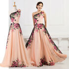 NEW VINTAGE 1950S MAXI LONG Flower Bridesmaid Evening Ball Gown Party Prom Dress