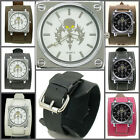 UK3612 Skull Sword Punk Watch Rock Men/Women Wide Leather Band Cuff