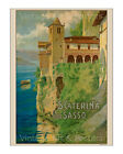 Caterina del Sasso - Reproduction Vintage Italian Travel Poster