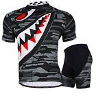 New Cycling bicycle outdoor Jersey + short Clothing Wear Bike Size M-XXL Black