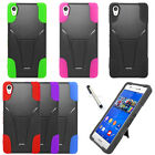 For Sony Xperia Z3V D6708 Cover Trifecta Kickstand Hard Soft Case + Stylus