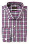 Steven Land Plaid Modern Fit Dress Shirt 100% Cotton - DM1240 Retail $70