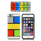 Heavy Duty Case DIY Puzzle Rainbow Hard Cover for iPhone 6S   6S Plus 6   6 Plus