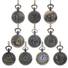1PC STEAMPUNK Pocket Watch Necklace Chain Pendant Round Shape Keepsakes