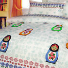 APPLIQUED CHENKA White - Girls Quilt / Duvet / Doona Cover Set - SINGLE DOUBLE