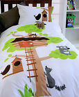 APPLIQUED Tree House - Children Quilt / Duvet / Doona Cover Set - SINGLE DOUBLE