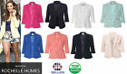 LADIES CELEBRITY INSPIRED TAILORED SUIT BLAZER JACKET SMART OFFICE COAT TOP SIZE