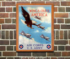 Wings over America - Reproduction WWII US Army Air Corp Recruiting Poster