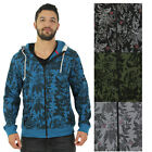 Jordan Craig Men's Floral Zip Up Hoodie Sweatshirt Marijuana Herb