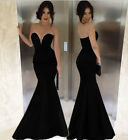 Classic 2015 Sexy Women Mermaid Bodycon Party Evening Prom Long Dress Gown Black