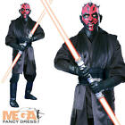 Super Deluxe Darth Maul Fancy Dress Star Wars Men's Halloween Costume + Mask New