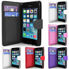 FLIP WALLET PU PREMIUM LEATHER CASE FOR IPHONE 5 5S + SCREEN PROTECTOR & STYLUS