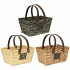 LARGE WOVEN SHOPPING/STORAGE BASKET WITH HANDLES KITCHEN/DISPLAY/WICKER/HAMPER