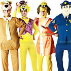 Hanna Barbera Mens Fancy Dress 1950s Cartoon TV Show Characters Adults Costume