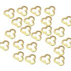 BMC Cute Mini 100pc Cut-Out Metal Alloy Clover Nail Art Fashion Frame Studs