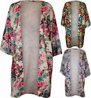 New Plus Size Womens Floral Print Cardigan Ladies Open Light Jacket Top 16 - 26