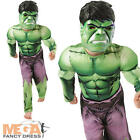 Deluxe Incredible Hulk Boys Fancy Dress Kids Marvel Superhero Childrens Costume