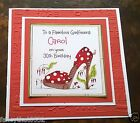 Handmade Personalised Birthday Card Shoe Girlfriend Nanna Mum 18th 30th 85th Age