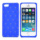 Dasein® Flexible Rhinestone Accent Phone Case Cover for iPhone 5 5S