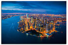 Manhattan New York Evening Scene Large Wall Poster New - Maxi Size 36 x 24 Inch