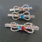 Fashion Lady Girl's Full Crystal Rhinestone Bow Gold Barrette Hairpin Hair Clip