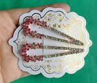 choose Fashion Lady Girl's Crystal Rhinestone  Gold Barrette Hairpin Hair Clip