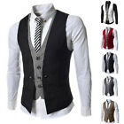 New SALE Men Slim Fit Dress Blazer Vest Tops Suit Waistcoat Coat Jacket XS-S-M-L