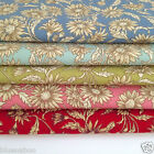 per 1/2 Mtr / fat quarter Thistle floral 100% cotton fabric dressmaking craft