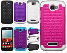 Alcatel OneTouch Pop Icon HYBRID IMPACT Dazzling Diamond Case Phone Cover