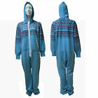 WOMENS MENS SNOWFLAKE FAIRISLE ONESIE JUMP SUIT - SIZES, S, M, L, XL
