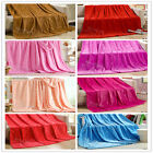 Solid Queen Size Faux Mink Blanket Soft Comfort Warm Lush Throw Rug 200*230cm