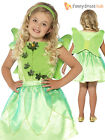 Age 3-8 Girls Tinkerbell Fairy Peter Pan Kids  Book Week Day Fancy Dress Costume