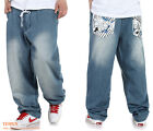 Mens Skateboards Jeans Baggy Jeans Casual Urban Street Wear Washed Hip Hop Jeans
