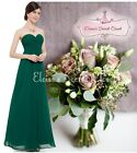 BNWT MEGAN Emerald Green Chiffon Prom Bridesmaid Occasion Maxi Dress UK 6 - 18