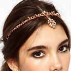 Boho Women Rivet Rhinestone Wedding Headdress Headband Head Band Chain Headpiece