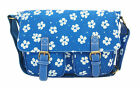 Waterproof Canvas Satchel Messenger Cross Body Bag Flower Print School