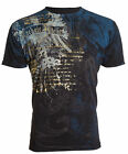 ARCHAIC by AFFLICTION Mens T-Shirt CASCO Eagle Wings BLACK Tattoo Biker UFC $40