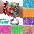 New Mix Colour Glitter Jelly Rubber Bands 15 Clips 1 Hook For Loom Refill CA