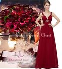 BNWT ERIN Cranberry Red Chiffon Jewel Evening Prom Bridesmaid Dress UK 6 - 18