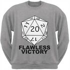 Flawless Victory Heather Grey Adult Crew Neck Sweatshirt $24.95 USD on eBay
