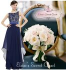 BNWT ALICE Navy Blue Lace Chiffon Prom Evening Bridesmaid Dress UK Sizes 6 -18