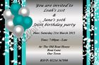 Personalised Birthday Party Invitations Single / Joint 21st 30th 40th 50th 60th