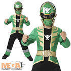 Green Super Mega Force + Mask Boys Fancy Dress Power Rangers Kids Childs Costume