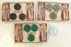 "Vintage buttons 7/8"" UNUSED set of 3 on card Coat Cardigan"